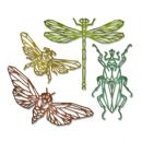 664180 Sizzix Thinlits Die Set 4PK - Geo Insects by Tim Holtz